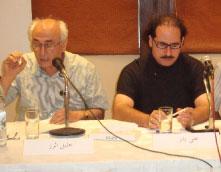 علي بدر وخليل الرز في إحدى جلسات الملتقى
