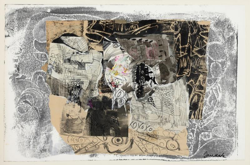 «من دون عنوان» (2000 ـــ كولاج على ورق نقش ـــ 47 × 71 سنتم)