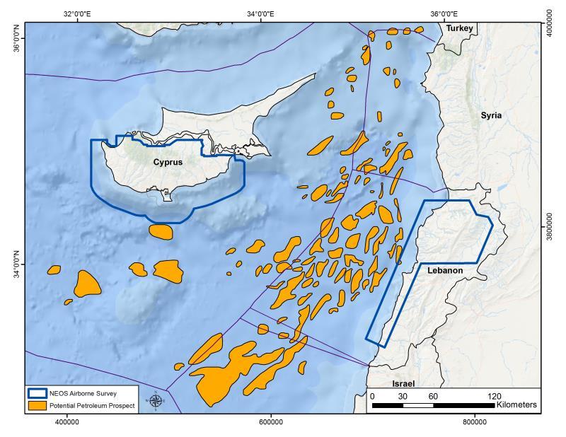 مكامن الحقول النفطية في الحوض المشرقي للبحر المتوسط