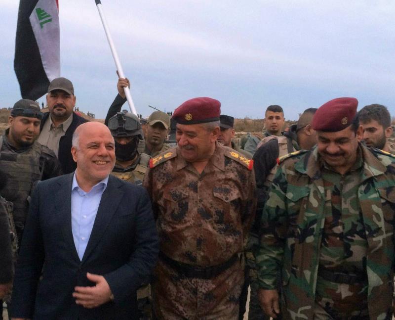 """أكد العبادي أن الموصل ستكون المحطة المقبلة لتحريرها من قبضة """"داعش"""""""