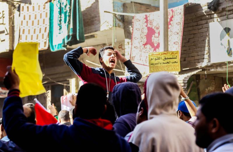 من مسيرة لمتظاهرين إخوانيين في القاهرة قبل يومين