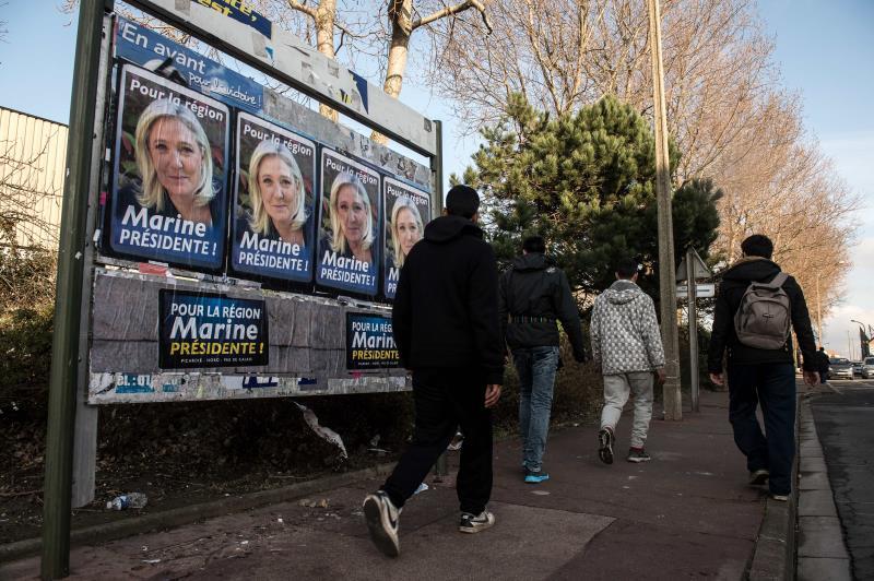 حصلت كل من مارين لوبن وماريون ماريشال لوبن على أكثر من 40% من الأصوات كل في منطقتها
