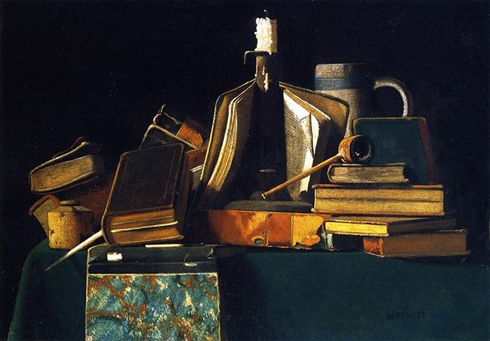 After Night›s Study لجون فريدريك بيتو (1890 ــــ 1900 ــــ زيت على كانفاس ـــــ 36.2 × 50.8 سنتم)