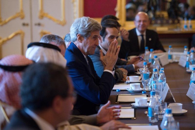 كيري: لم نلمس أي رغبة لدى الأوروبيين في الاندفاع نحو الحرب (أ ف ب)