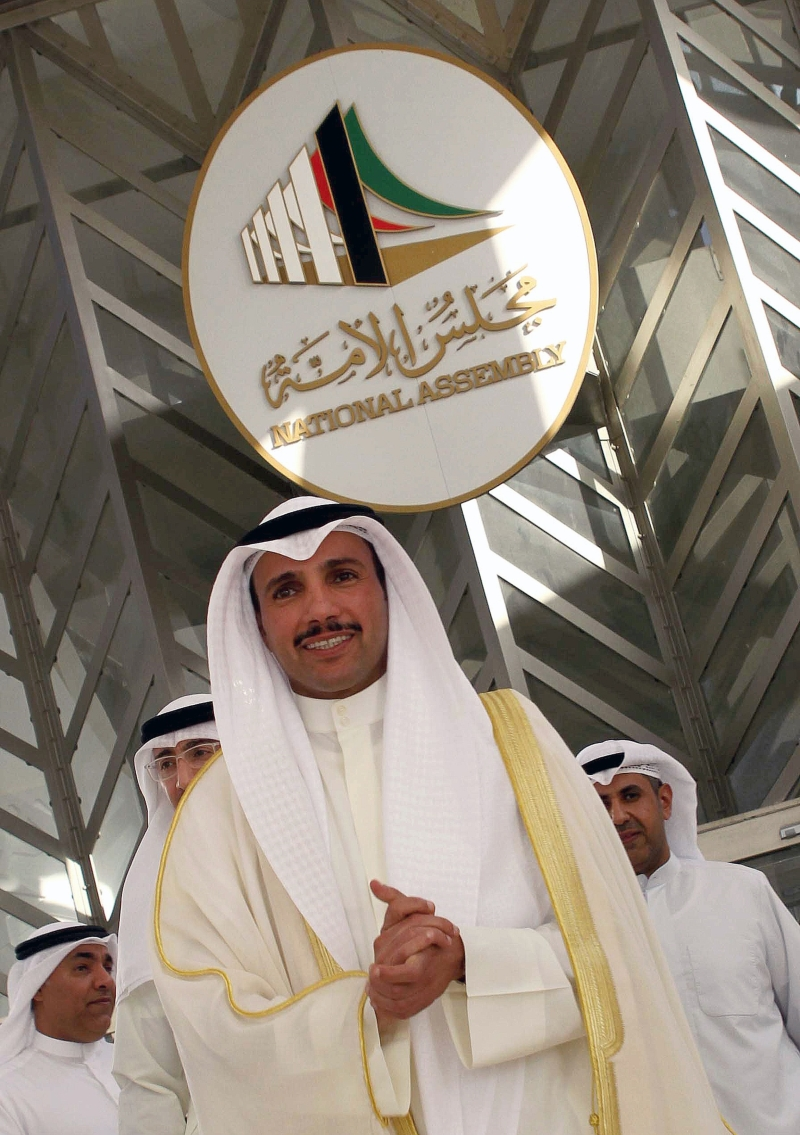 رئيس مجلس الأمة المنحلّ، مرزوق الغانم: لن نستطيع تجاوز هذه المرحلة من دون فريق حكومي جديد (أ ف ب)