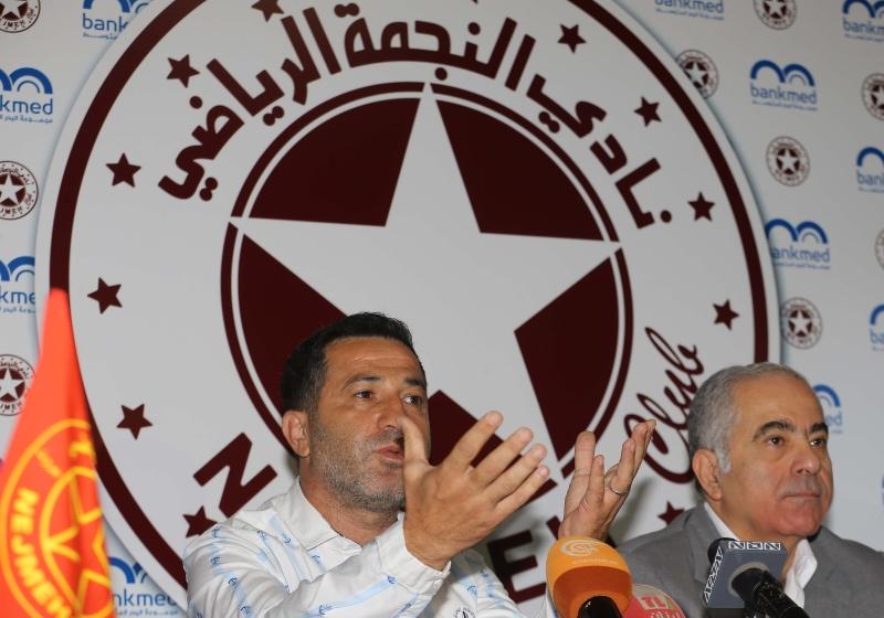 عسيران والحاج خلال المؤتمر الصحافي أمس (عدنان الحاج علي)