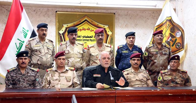 انحاز العبادي حين أطلق عمليات الموصل إلى الرؤية الأميركية (أ ف ب)