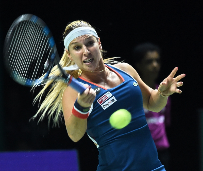كانت تشيبولكوفا بحاجة للفوز وخسارة كيز أمام كيربر (أ ف ب)