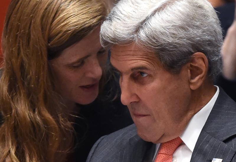 كيري: نسعى لـ«هدنة» تشمل إبقاء المقاتلات الروسية والسورية على الأرض في مناطق معينة (أ ف ب)