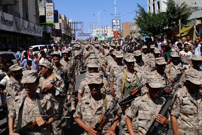 أنشأت الامارات قوتين عسكريتين منفصلتين في «إقليمي» الجنوب (أ ف ب)