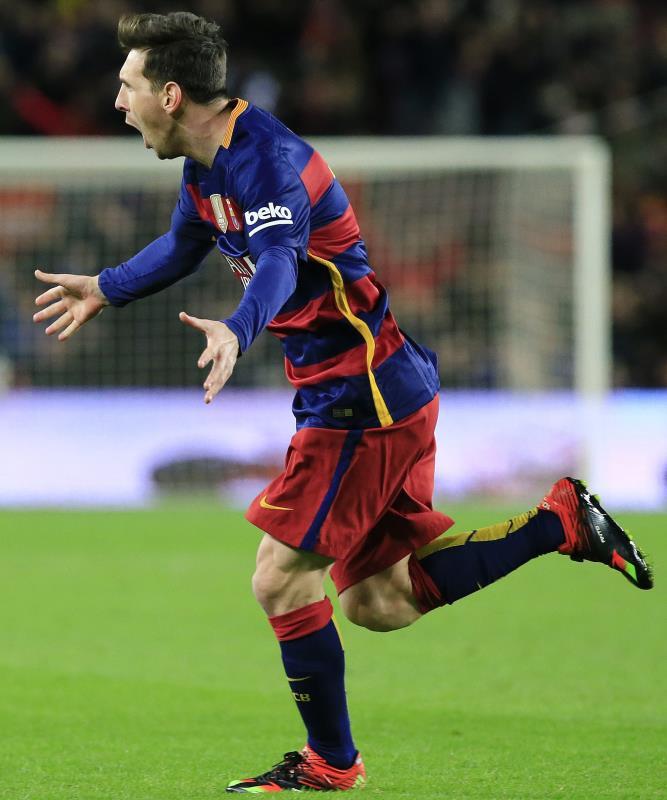 سجل ميسي خمسة أهداف في آخر مباراتين (بو بارينا ــ أ ف ب)