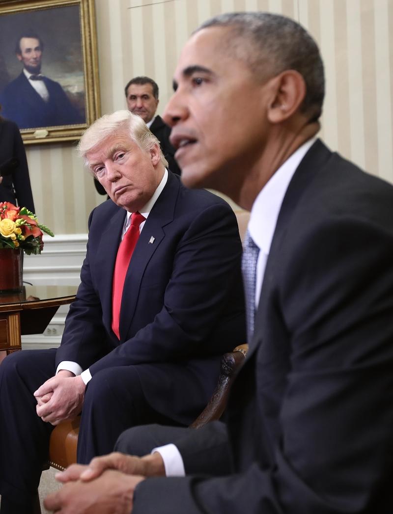 أكد أوباما أنه أجرى «محادثات ممتازة» مع ترامب (أ ف ب)