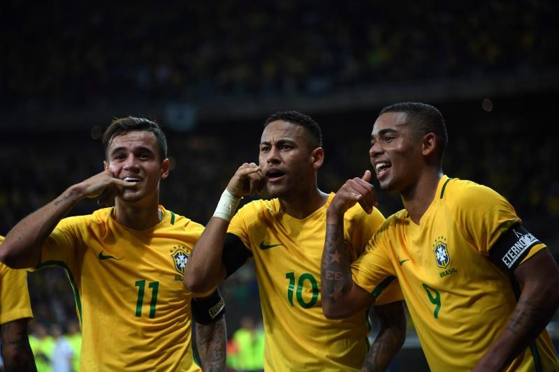 فازت البرازيل على الأرجنتين 3-0 (فاندرلي ألميدا ــ أ ف ب)