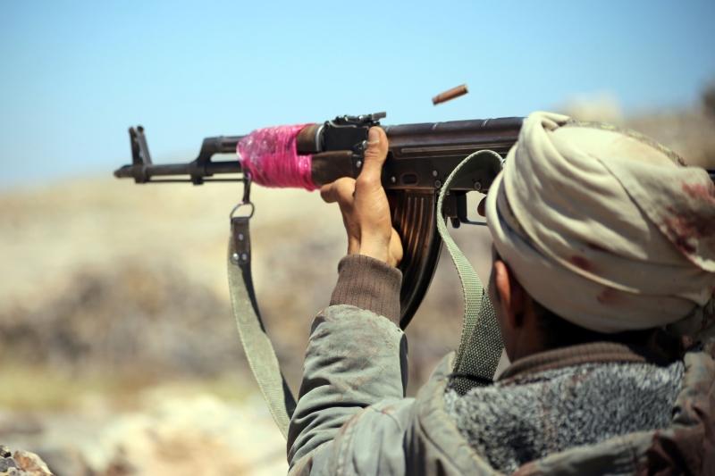 فضّل عدد كبير من الجنود السعوديين مغادرة مواقعهم قبل وقوع المواجهة (أ ف ب)