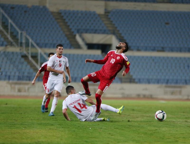 : سيغيب محمد حيدر (10) وهلال الحلوة عن مباراة الأردن غداً (أرشيف - مروان بوحيدر)