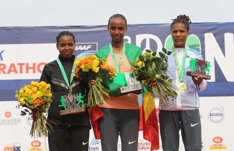 تمكنت الإثيوبية تيغيست غيتاتشو من تعزيز الرقم عند السيدات