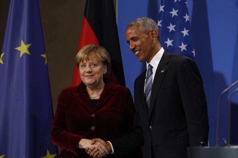 وصف أوباما من جهته ميركل بأنها «شريكة استثنائية» (الأناضول)