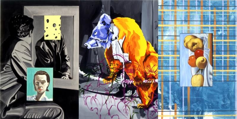 «شقوق في المرآة» لديفيد سال (زيت وأكريليك على كانفاس ــ 1998)