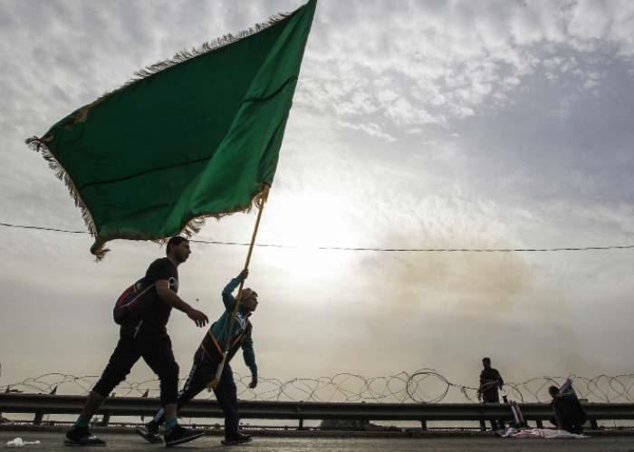 من إحياء مراسم «أربعين الحسين» في العراق قبل أيام (أ ف ب)