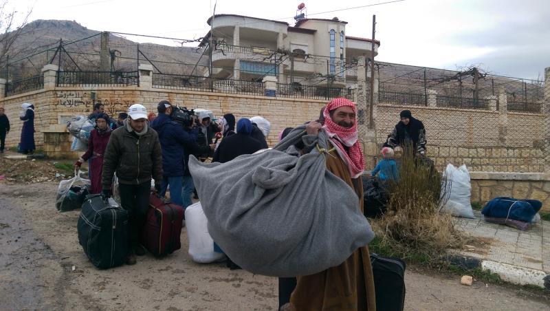 عشرات العائلات خرجت أمس من مضايا نحو دمشق ومحيطها