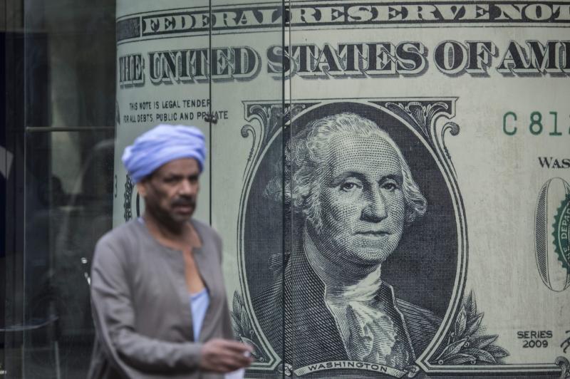 سجل الجنيه سعر صرف مقابل الدولار هو 13.1 بعدما كان 8.88 (أ ف ب)