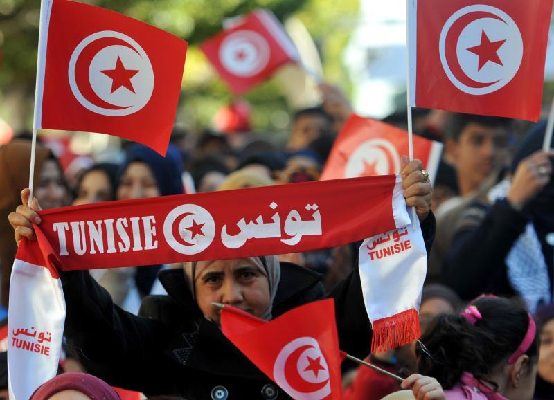 من احتفالات التونسيين بالذكرى الخامسة للثورة