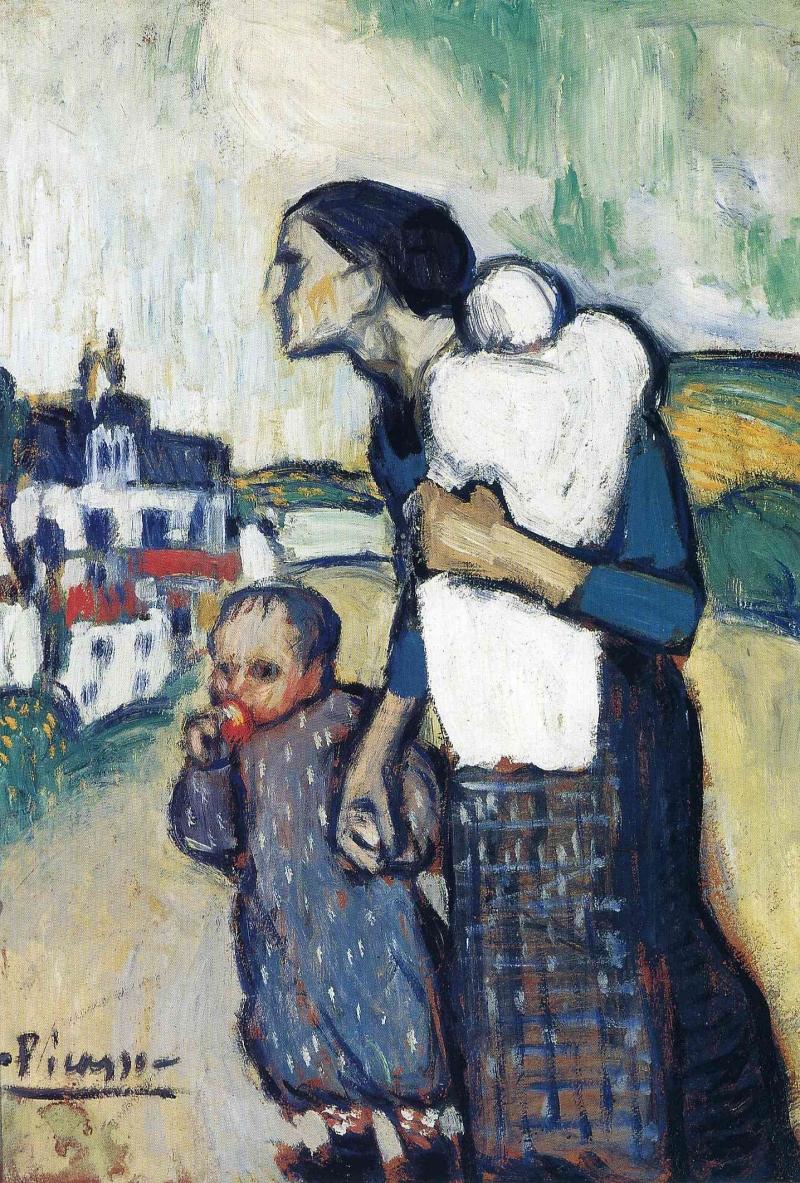 سُجِنَت فاطمة حمزة بعدما ارتكبت «جريمة» رفض التخلي عن طفلها (لوحة لبابلو بيكاسو)