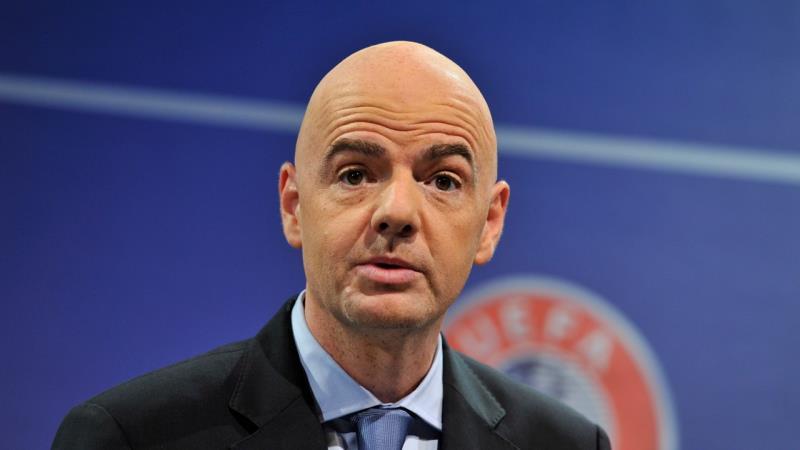 الأمين العام للاتحاد الأوروبي لكرة القدم جياني إينفانتينو (أرشيف)