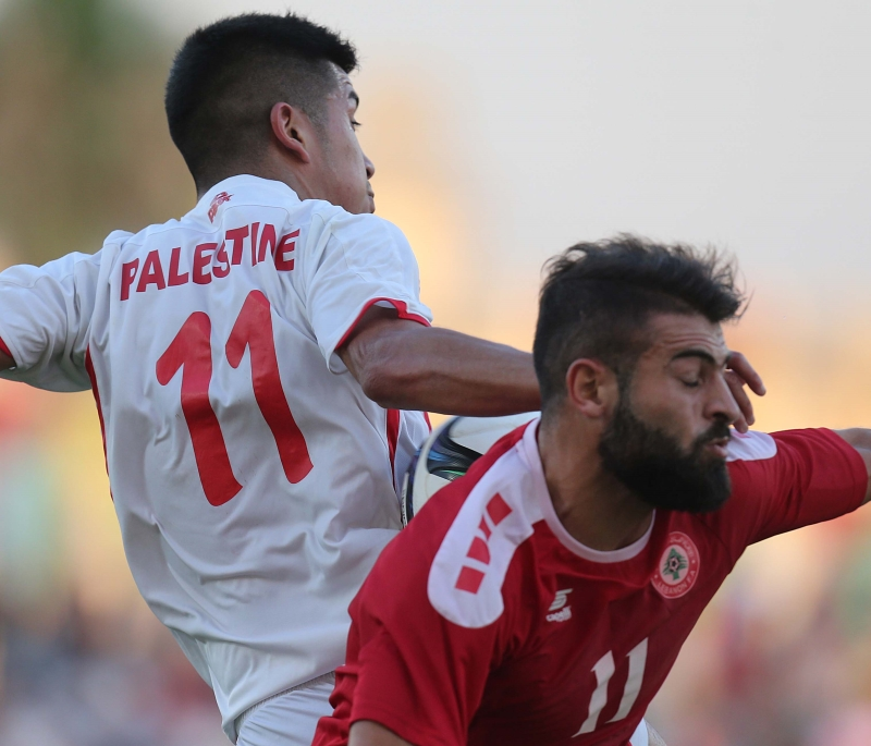 التقى منتخب لبنان مع فلسطين ودياً في بيروت وتعادلا سلباً (أرشيف - عدنان الحاج علي)