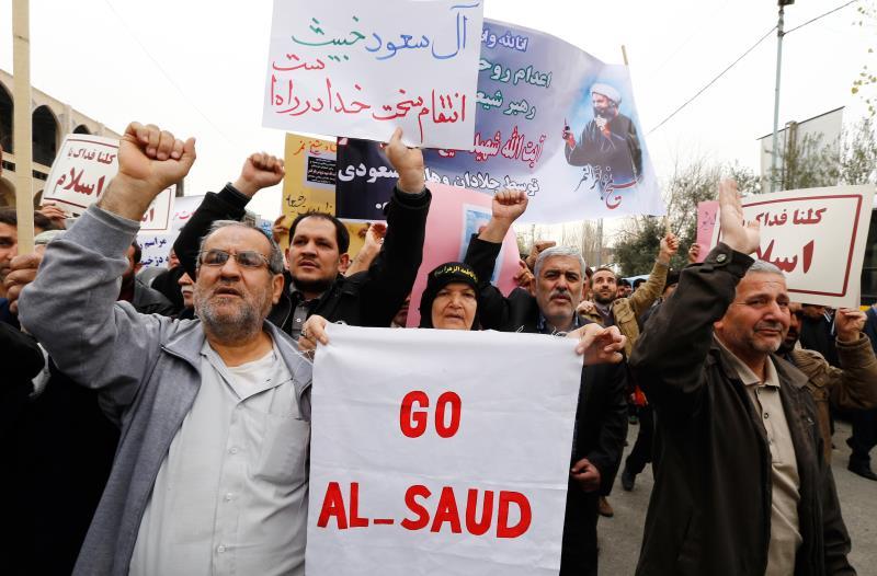 شهدت طهران وإسلام آباد والقطيف تظاهرات منددة بإعدام الشيخ النمر