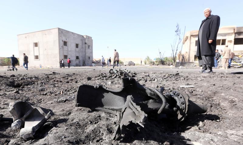 قتل الخميس نحو 55 شخصاً في هجوم انتحاري في زليتن، غربي ليبيا