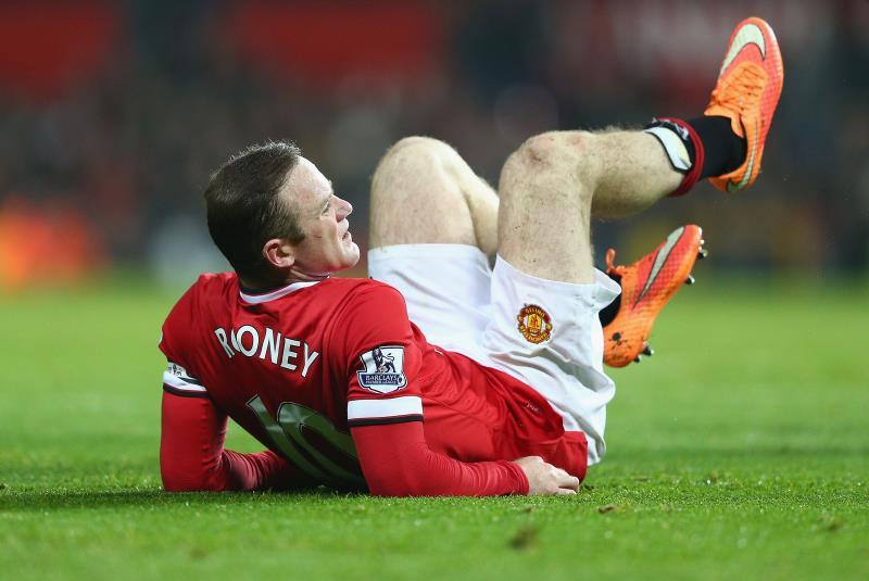 يعاني يونايتد من غياب 11 لاعباً بداعي الاصابة أبرزهم واين روني (أرشيف)