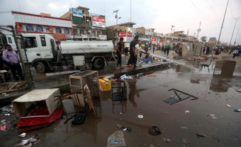 شهدت مدينة الصدر تفجيرين انتحاريين أسفرا عن سقوط أكثر من 100 قتيل وجريح