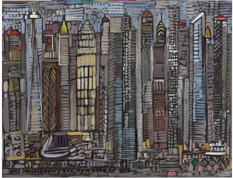 «المدينة الفسيفساء» (غواش على ورق كانسون ــ 50 × 65 سنتم ـــ 2015)