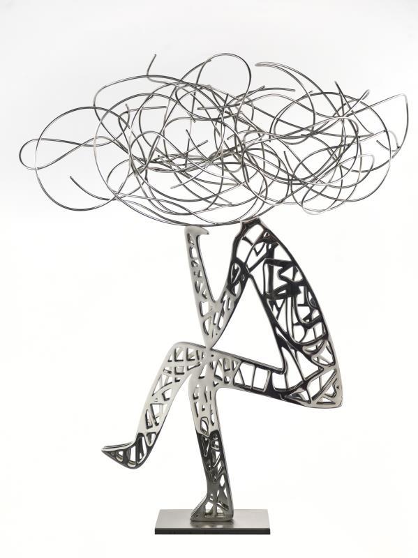 """""""جالس"""" (فولاذ مقاوم للصدأ _ 130x110x 60 سنتم _2015)"""