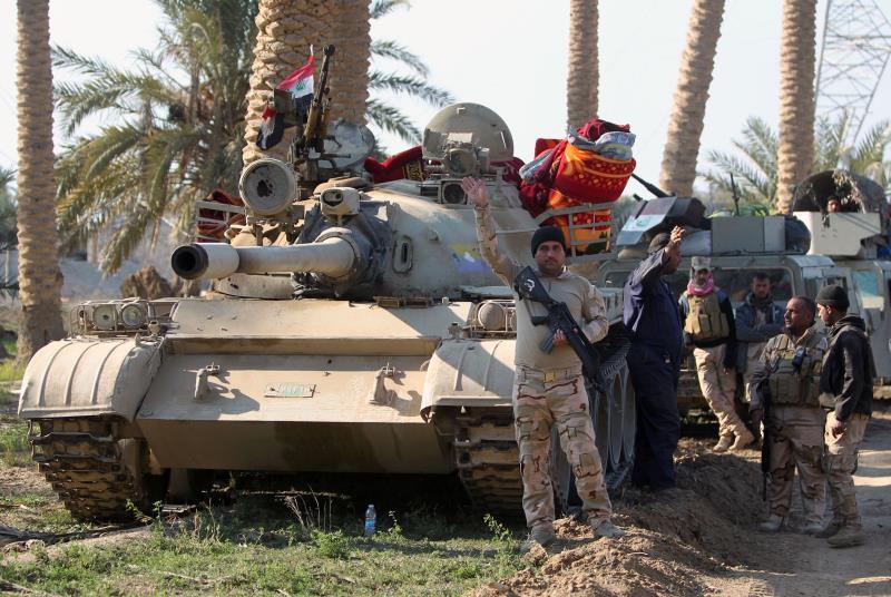 جميع أحياء الرمادي باستثناء جويبة وحصيبة تحت سيطرة القوات العراقية