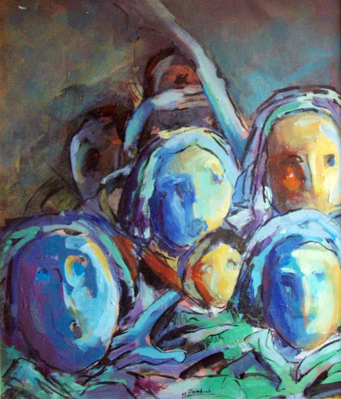 من اعمال الفنان الفلسطيني منذر جوابرة