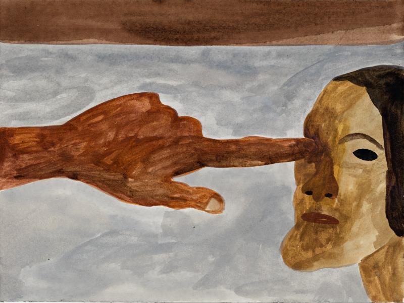 «ثقة» للنرويجي كيم هيرثوي (ألوان مائية على ورق ــ 34× 26 سنتم ــ 2016)