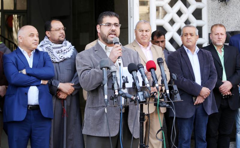 من وقفة تضامنية إعلامية في غزة