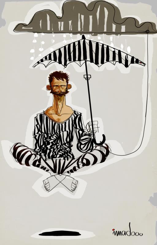 العمل للفنان الفلسطيني عماد الوهيبي