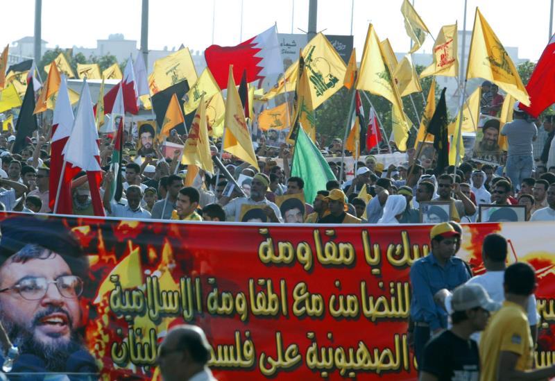 مسيرة مؤيدة لحزب الله في البحرين (أرشيف)