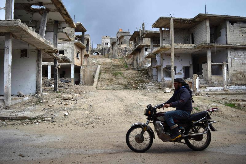 في مدينة تلبيسة في ريف حمص الشمالي أول من أمس