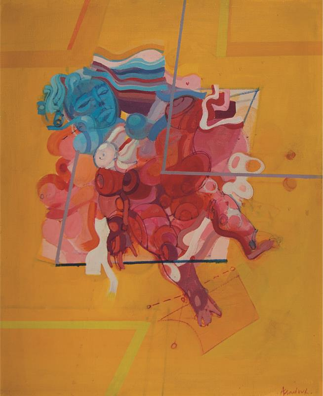 «بدون عنوان» (غير مؤرّخة ـــ زيت على قماش، 65×54 ــسنتم ـــ مجموعة السيد والسيدة أبراهام قرهبجاكيان، بيروت، لبنان - تفصيل)