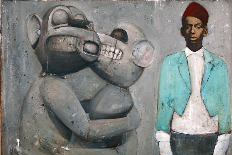 «الغاية» للنيجيري رانسوم ستانلي (زيت على كانفاس ــ 100×100 سنتم ــ 2012)
