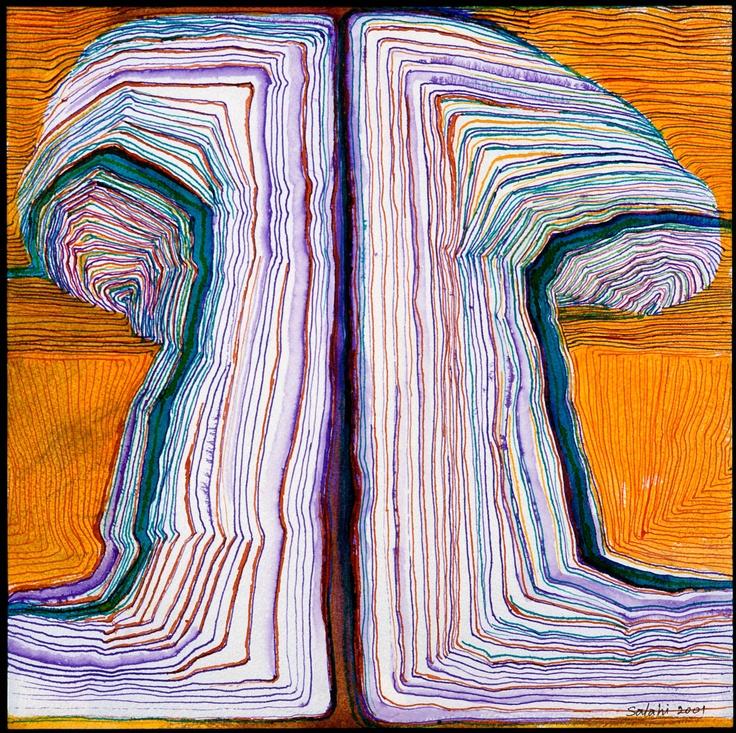 «الشجرة» لابراهيم الصلاحي (حبر ملوّن على ورق ــ 47 × 45.7 سنتم ــ 2001)