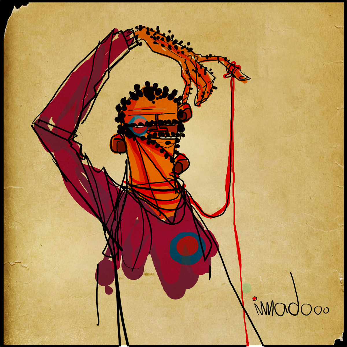 العمل للفنان عماد الوهيبي