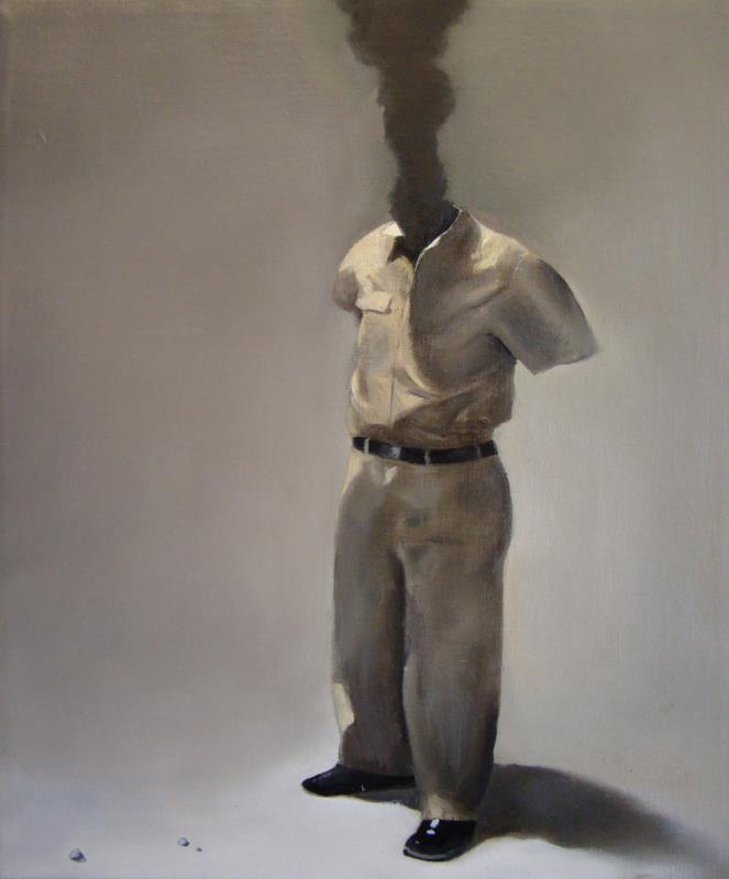 Plumebob لمارتن جونسون (زيت على كانفاس ــ 26×22 سنتم)