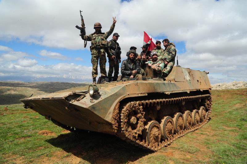 استطاع الجيش التقدم على محاور عدة من تدمر والقريتين