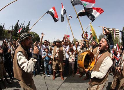 السوريون يقترعون للإستقرار