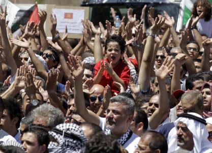 الأردن: مسيرة مسلّحة تطالب بـ«فتح الحدود»